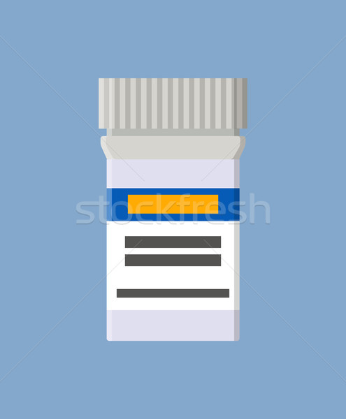 Plastic Container for Medical Pills with Label Stock photo © robuart