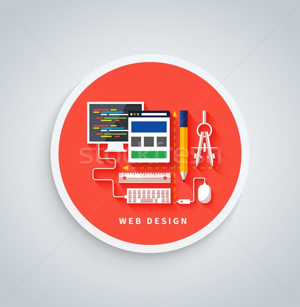 Foto d'archivio: Web · design · banner · schermo · programma · design