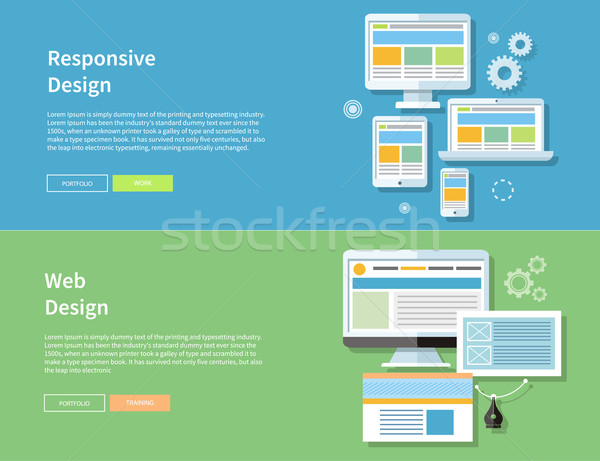 Web and Responsive Design Stock photo © robuart