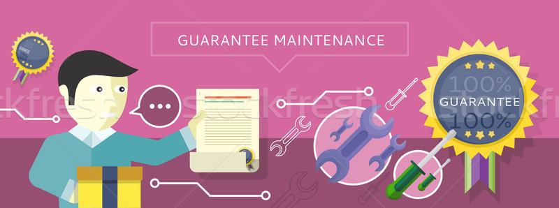 Concept to Provide Service Guarantees Maintenance Stock photo © robuart