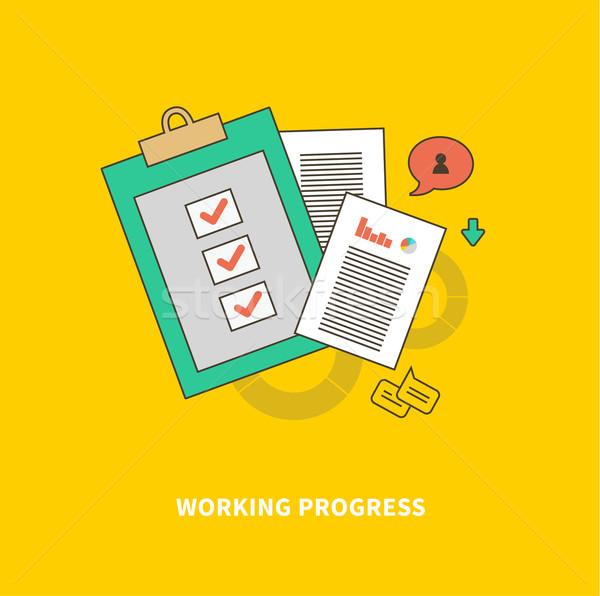 Etapa negócio processo trabalhando progresso passos Foto stock © robuart