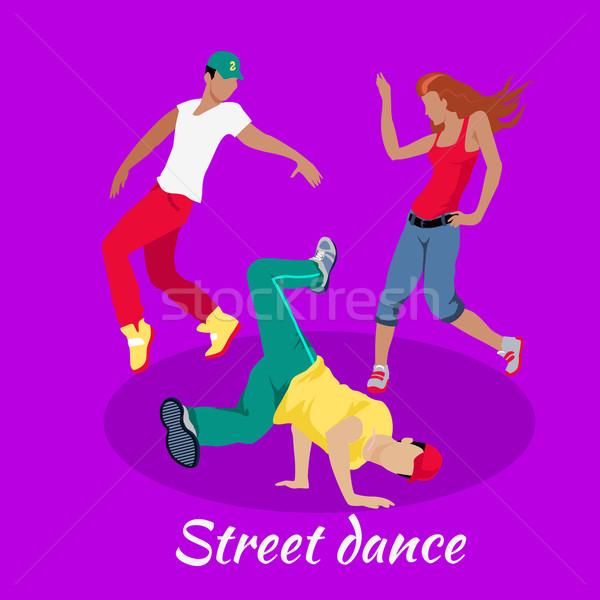 Ulicy dance projektu hip hop przerwie miejskich Zdjęcia stock © robuart