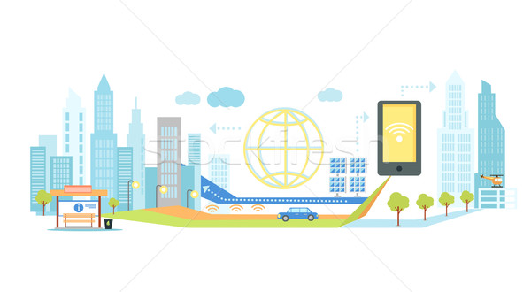 Smart Technology in Infrastructure of City Stock photo © robuart