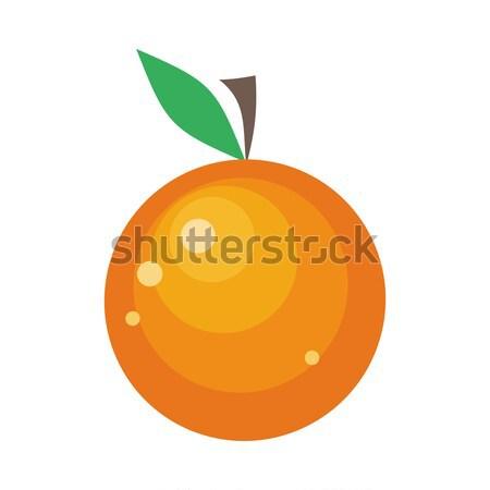 Orange Fruit Isolated on White Stock photo © robuart