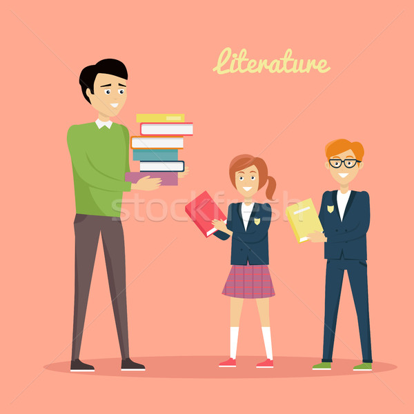 Literature Reading Concept Vector Illustration. Stock photo © robuart