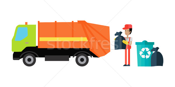 Utilities Garbage Removal Concept Vector Stock photo © robuart