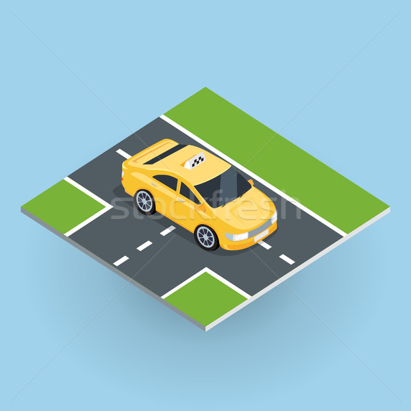 Isometric Yellow Taxi Cab Stock photo © robuart