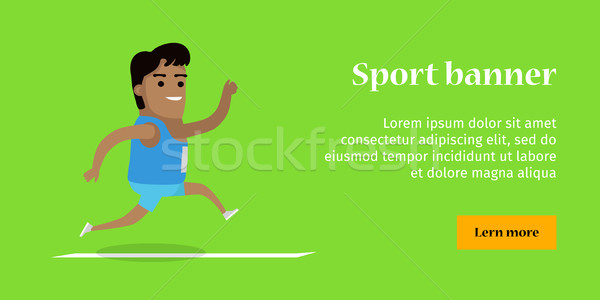 Summer Games Colorful Banner. Athletics Sport Stock photo © robuart