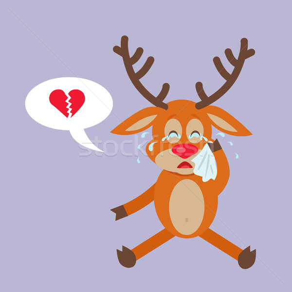 Deer Crying for Broken Heart Reindeer Disappointed Stock photo © robuart