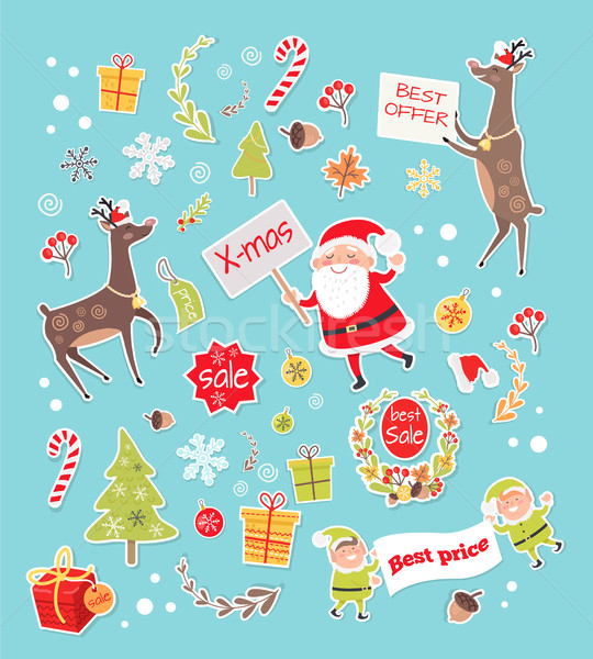 продажи объекты создание Новый год набор Сток-фото © robuart