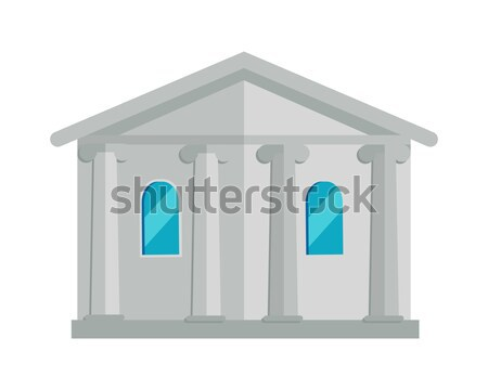 Building with Columns Vector Illustration.   Stock photo © robuart