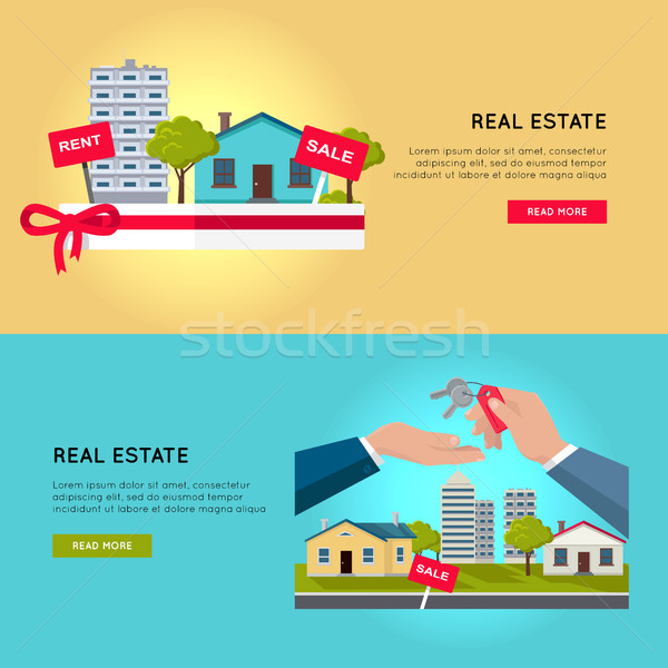Set of Real Estate Vector Web Banners. Stock photo © robuart