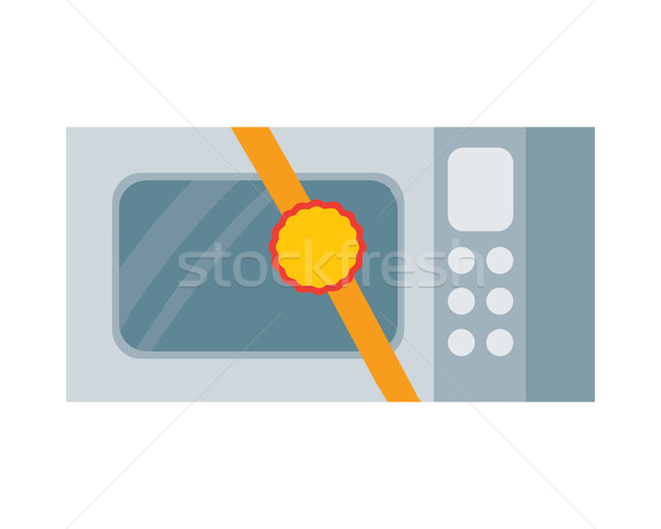 Microwave Vector Illustration in Flat Design Stock photo © robuart