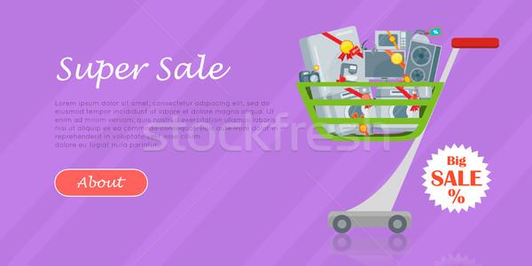 домашнее хозяйство стиль дизайна большой продажи Сток-фото © robuart