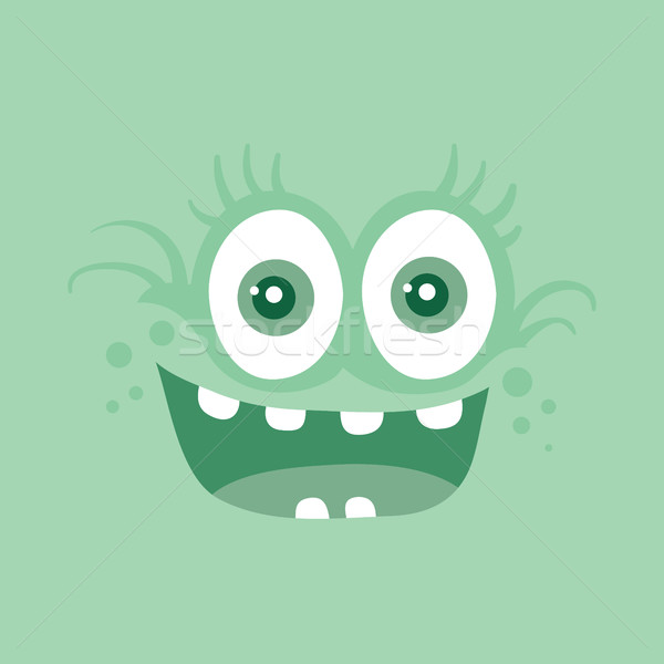 Funny Smiling Monster Smile Bacteria Character Stock photo © robuart