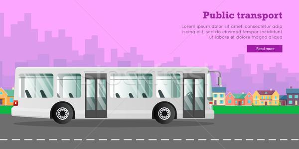 White Urban Public Transport in the Big City. Stock photo © robuart