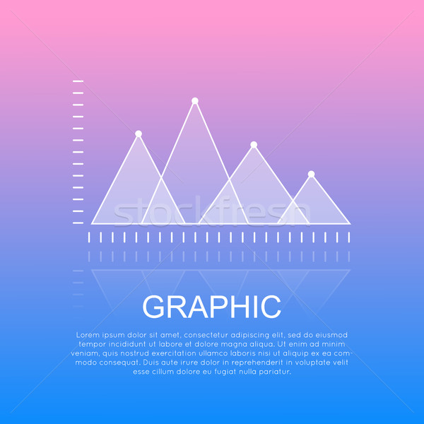 Graphic Diagram with Triangular Marks Report. Stock photo © robuart