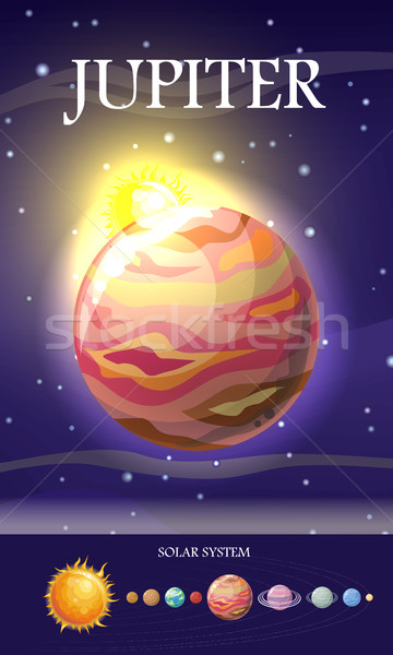 Jupiter Planet. Sun System. Universe. Vector. Stock photo © robuart