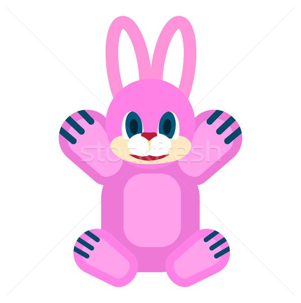 Friendly Rabbit Soft Toy Isolated Illustration Stock photo © robuart