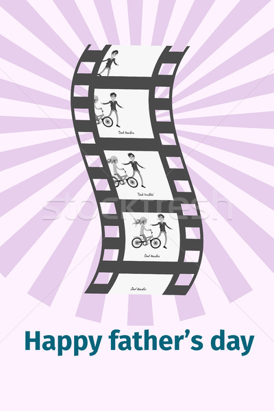 Gelukkig vader dag zwarte film reel Stockfoto © robuart