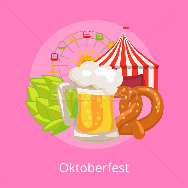 Oktoberfest Vector Illustration Food and Drinks Stock photo © robuart
