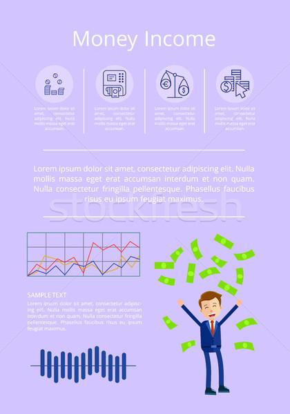 Money Income Statistics Vector Illustration Stock photo © robuart