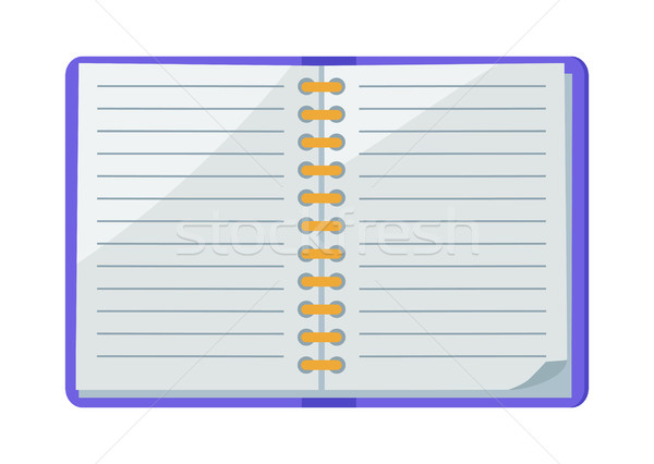 Open Spiral Copybook Vector Illustration Icon Stock photo © robuart