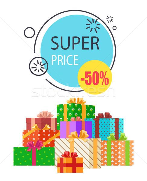 Super venda promo etiqueta 50 preço Foto stock © robuart