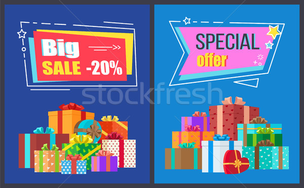 Big Sale Special Offer Posters Vector Illustration Stock photo © robuart