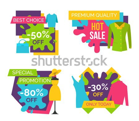 Exclusive -55 Off Sticker on Vector Illustration Stock photo © robuart