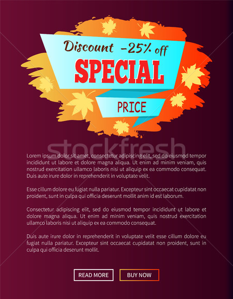 Speciale prezzo autunno vendita 25 annuncio Foto d'archivio © robuart