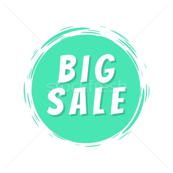 Big Sale Text Blue Painted Spot Brush Stroke Icon Stock photo © robuart