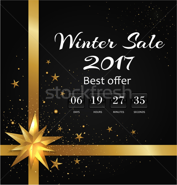 Winter Sale Poster with Back-off Timer Christmas Stock photo © robuart