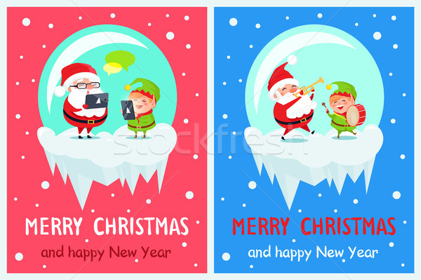 Merry Christmas Innovations Vector Illustration Stock photo © robuart