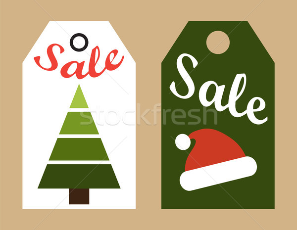 Sale New Year Tags Collection Vector Illustration Stock photo © robuart