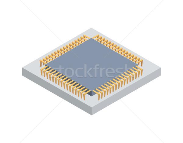 Platform for Mining Cryptocurrency Blockchain Icon Stock photo © robuart