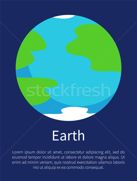 Blue Earth on Informative Poster with Sample Text Stock photo © robuart