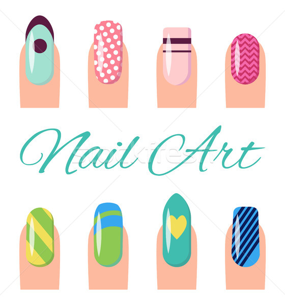 Nail Art Collection Poster Vector Illustration Stock photo © robuart