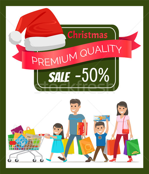 Half Price Premium Quality Christmas Sale Banner Stock photo © robuart
