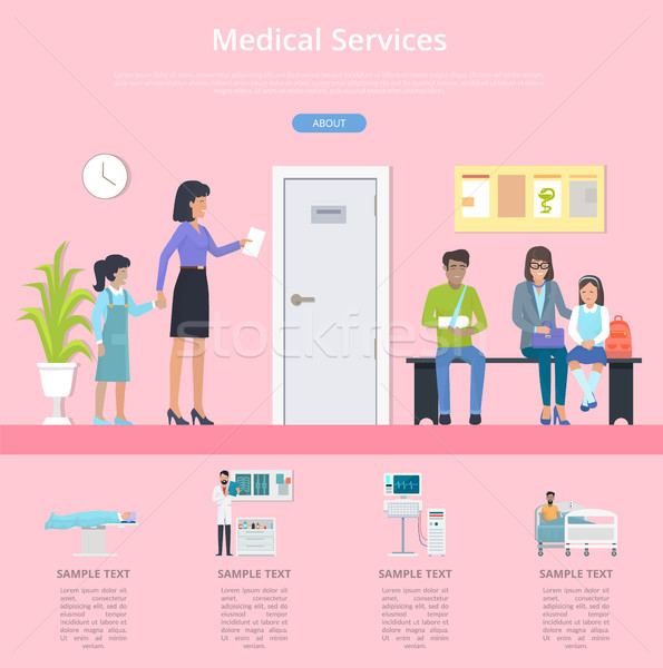 Medical Services with Text on Vector Illustration Stock photo © robuart