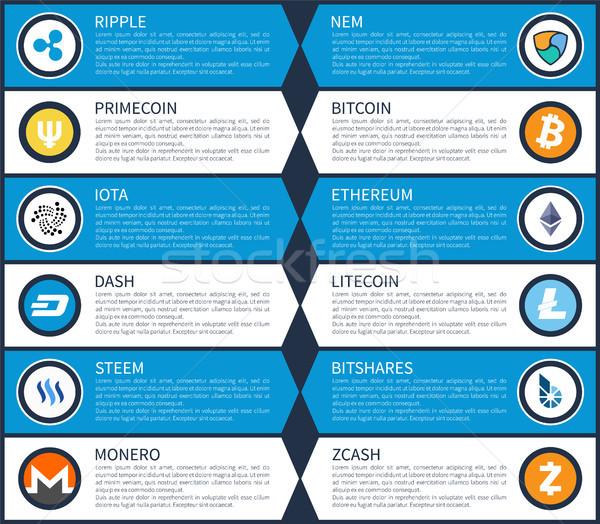 ряби bitcoin различный монетами текста образец Сток-фото © robuart