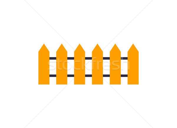 Wooden Fence Icon Vector Illustration Isolated Stock photo © robuart