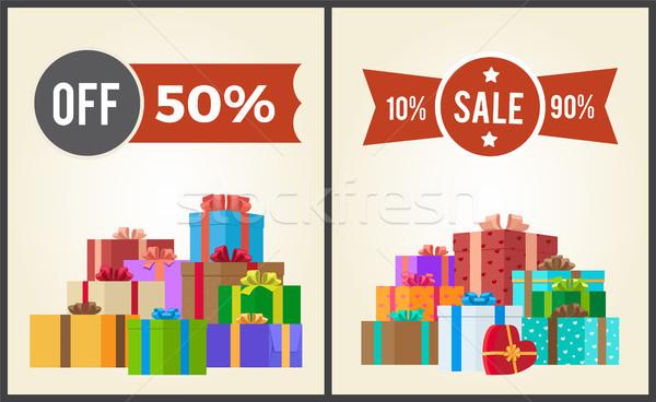 Cena sprzedaży 10 zestaw Zdjęcia stock © robuart