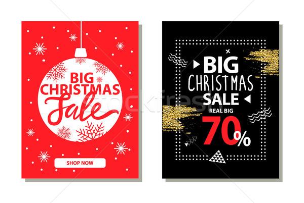 Foto stock: Grande · Navidad · venta · banners · decorativo · pelota