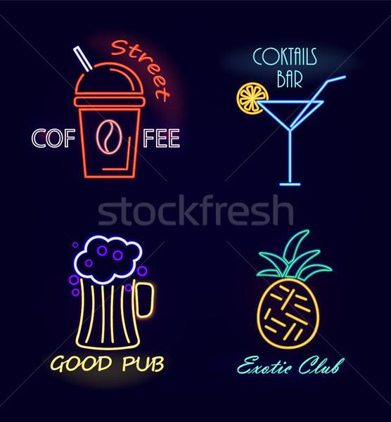 Ulicy kawy koktajl bar koktajle dobre Zdjęcia stock © robuart