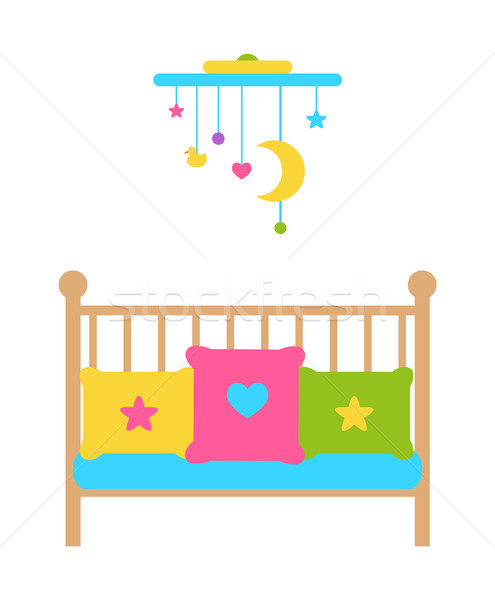 Crib Young Child Bed with Barred or Latticed Sides Stock photo © robuart
