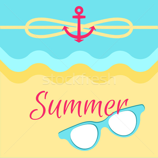 Summer Bright Poster, Colorful Vector Illustration Stock photo © robuart
