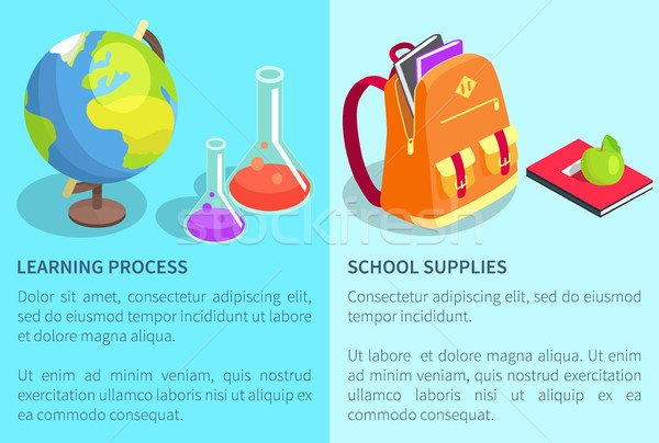 школы рюкзак полный книгах химического обучения Сток-фото © robuart