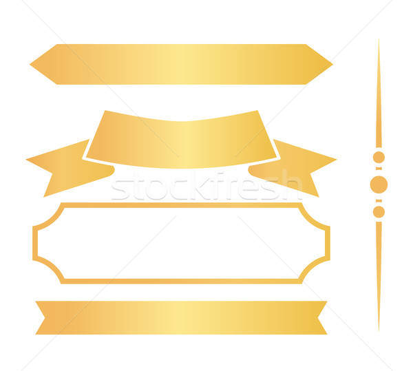Golden Ribbons and Frames for Certificates Set Stock photo © robuart