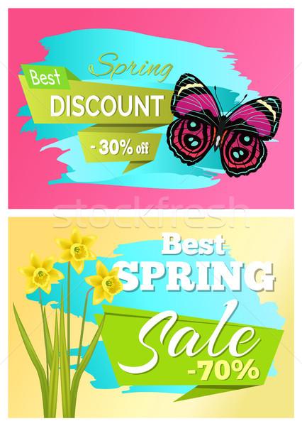 Tavasz legjobb árengedmény 30 el vásár Stock fotó © robuart